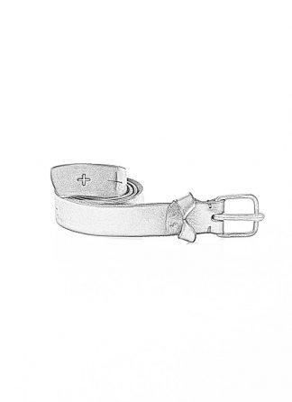 M.A MAURIZIO AMADEI men women D buckle cross cuts wide belt damen herren guertel ED2E GR 3.0 cow leather 925 sterling silver black hide m 1