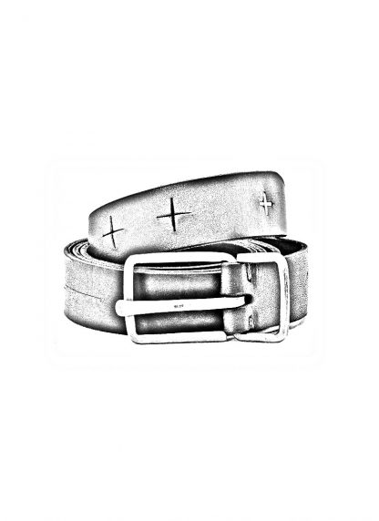 M.A MAURIZIO AMADEI men women G buckle cross cuts belt damen herren guertel EG2D GR 3.0 cow leather 925 sterling silver color black hide m 1