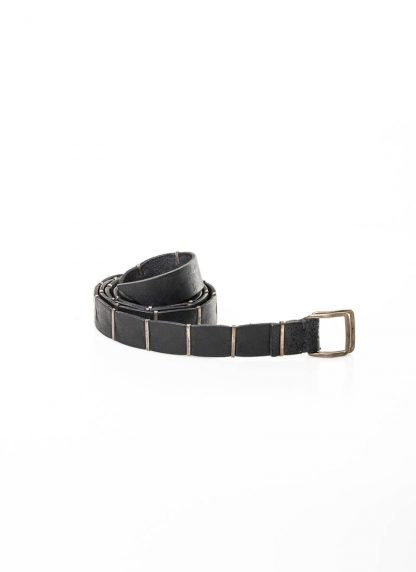 M.A MAURIZIO AMADEI men women double square buckle reversible staple belt damen herren guertel EB3C GR 3.0 cow leather 925 sterling silver black hide m 2