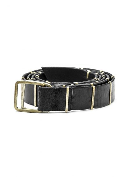 M.A MAURIZIO AMADEI men women double square buckle reversible staple belt damen herren guertel EB3C GR 3.0 cow leather 925 sterling silver black hide m 3