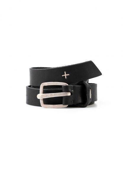 M.A MAURIZIO AMADEI men women q buckle clean med belt damen herren guertel EQ1C GR 3.0 cow leather 925 sterling silver black hide m 2