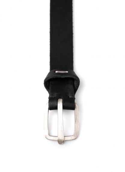 M.A MAURIZIO AMADEI men women q buckle clean med belt damen herren guertel EQ1C GR 3.0 cow leather 925 sterling silver black hide m 3