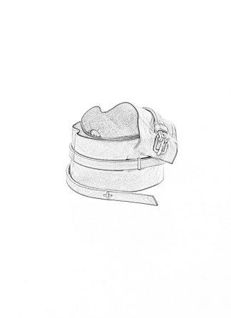 M.A MAURIZIO AMADEI women Q buckle skinny cuff belt damen guertel EQ3A G CUX 0.7 horse leather 925 sterling silver coal hide m 1
