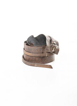 M.A MAURIZIO AMADEI women Q buckle skinny cuff belt damen guertel EQ3A G CUX 0.7 horse leather 925 sterling silver coal hide m 2