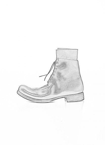 M.A Maurizio Amadei Men Staple Short Lace Up Boot Herren Stiefel S1B23 CU horse leather black hide m 1