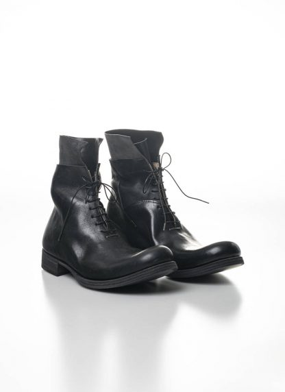 M.A Maurizio Amadei Men Staple Short Lace Up Boot Herren Stiefel S1B23 CU horse leather black hide m 8