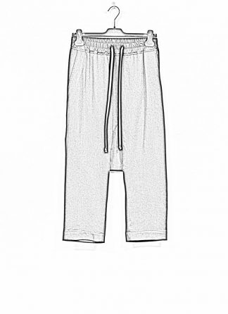 RICK OWENS larry women Drawstring Cropped Pants damen hose new wool black hide m 1