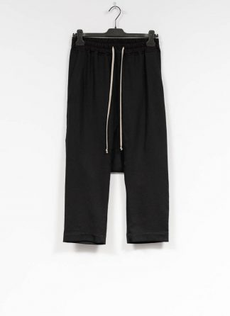 RICK OWENS larry women Drawstring Cropped Pants damen hose new wool black hide m 2