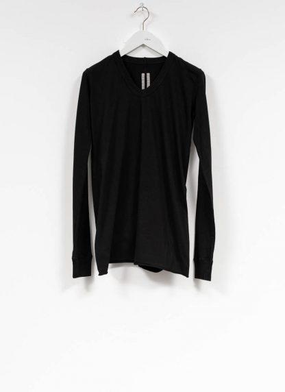 RICK OWENS larry women V neck long sleeve tee tshirt top damen cotton black hide m 2