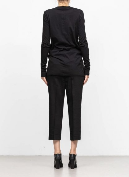 RICK OWENS larry women V neck long sleeve tee tshirt top damen cotton black hide m 5
