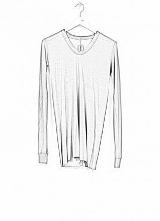 RICK OWENS larry women V neck long sleeve tee tshirt top damen viscose silk dust hide m 1