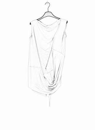RICK OWENS larry women damen slash neck top acetate silk acqua hide m 1