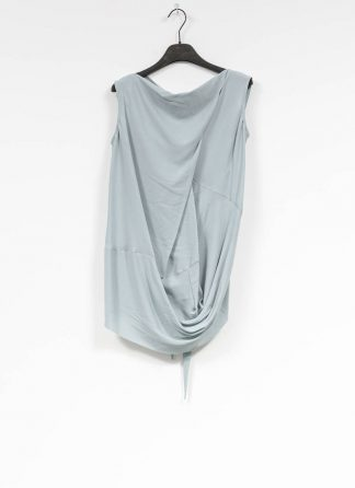 RICK OWENS larry women damen slash neck top acetate silk acqua hide m 2