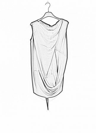RICK OWENS larry women damen slash neck top acetate silk black hide m 1