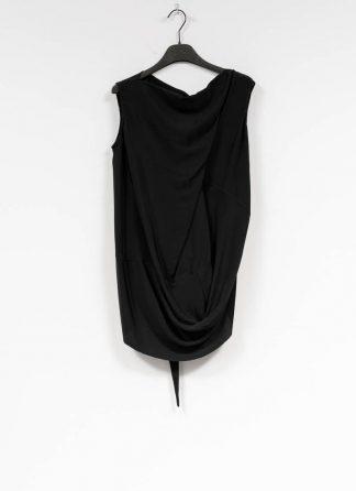 RICK OWENS larry women damen slash neck top acetate silk black hide m 2