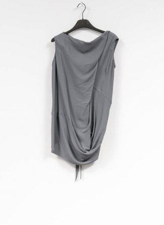RICK OWENS larry women damen slash neck top acetate silk blu hide m 2