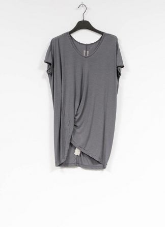RICK OWENS larry women hiked tee tshirt top damen viscose silk blu hide m 2