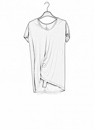 RICK OWENS larry women hiked tee tshirt top damen viscose silk dust hide m 1
