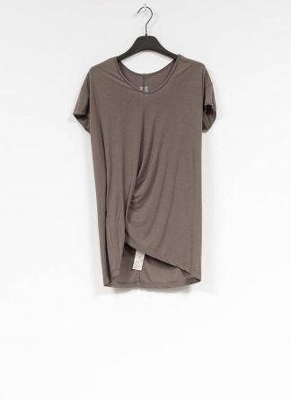 RICK OWENS larry women hiked tee tshirt top damen viscose silk dust hide m 2