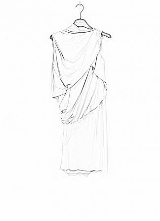 RICK OWENS larry women knot tunic dress damen kleid acetate silk acqua hide m 1