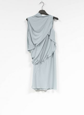 RICK OWENS larry women knot tunic dress damen kleid acetate silk acqua hide m 2