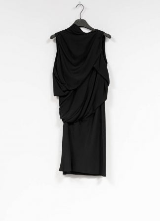 RICK OWENS larry women knot tunic dress damen kleid acetate silk black hide m 2