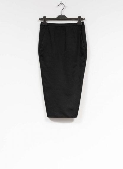 RICK OWENS larry women skirt soft pillar short damen rock new wool black hide m 2