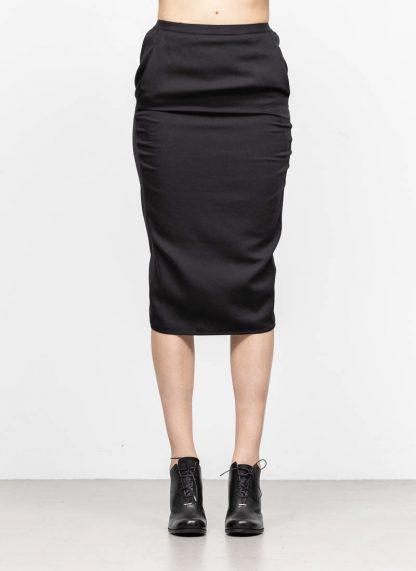 RICK OWENS larry women skirt soft pillar short damen rock new wool black hide m 3