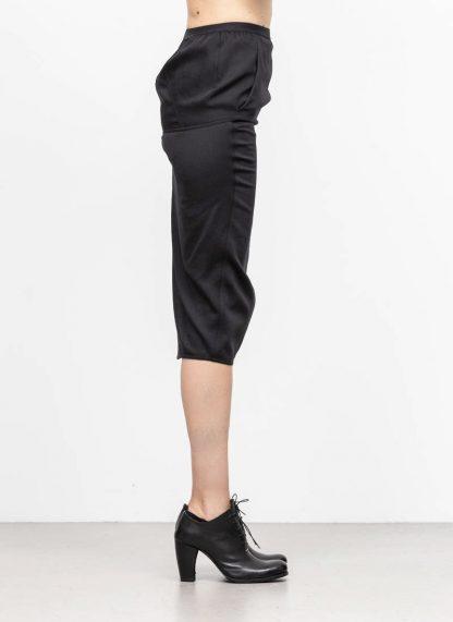 RICK OWENS larry women skirt soft pillar short damen rock new wool black hide m 4