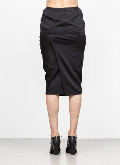 RICK OWENS larry women skirt soft pillar short damen rock new wool black hide m 5