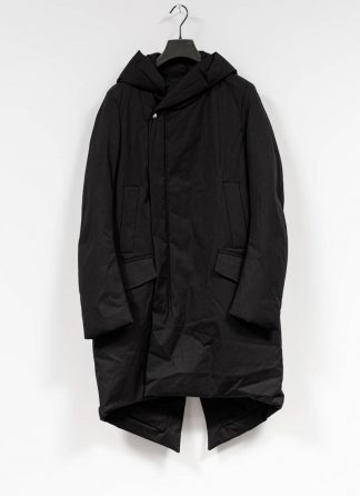RICK OWENS larry women slab coat padded damen mantel parka black cotton hide m 2