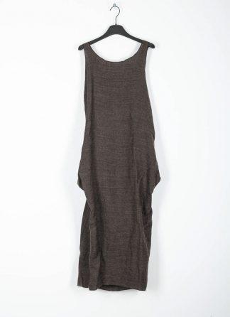 CHEREVICHKIOTVICHKI women adjustable back dress damen kleid 106AW19 linen wool mud stripe hide m 2
