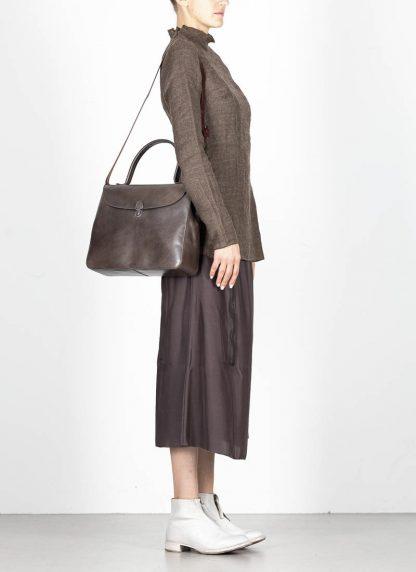 CHEREVICHKIOTVICHKI women medium lock bag damen tasche 47AW19 waxed calf leather dark oyster hide m 6