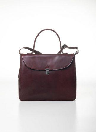 CHEREVICHKIOTVICHKI women medium lock bag damen tasche 47AW19 waxed calf leather red hide m 2