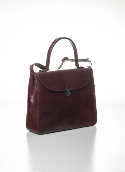 CHEREVICHKIOTVICHKI women medium lock bag damen tasche 47AW19 waxed calf leather red hide m 3