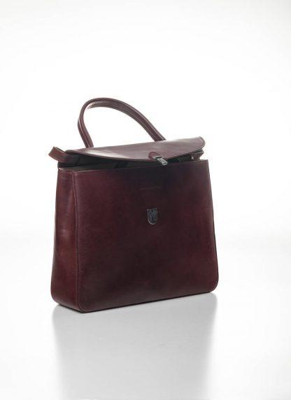 CHEREVICHKIOTVICHKI women medium lock bag damen tasche 47AW19 waxed calf leather red hide m 4
