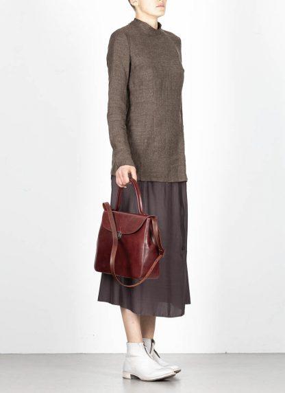 CHEREVICHKIOTVICHKI women medium lock bag damen tasche 47AW19 waxed calf leather red hide m 5