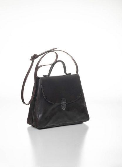 CHEREVICHKIOTVICHKI women small lock bag damen tasche 52SS19 B calf nubuck leather aubergine brown hide m 3