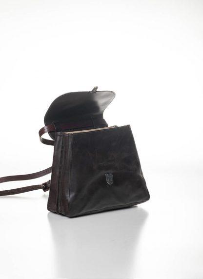 CHEREVICHKIOTVICHKI women small lock bag damen tasche 52SS19 B calf nubuck leather aubergine brown hide m 4