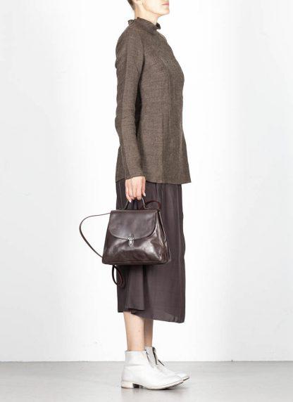CHEREVICHKIOTVICHKI women small lock bag damen tasche 52SS19 B calf nubuck leather aubergine brown hide m 5