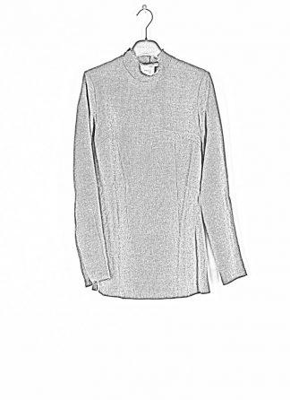 CHEREVICHKIOTVICHKI women tshirt witz zips damen top 92AW19 linen wool mud stripe hide m 1