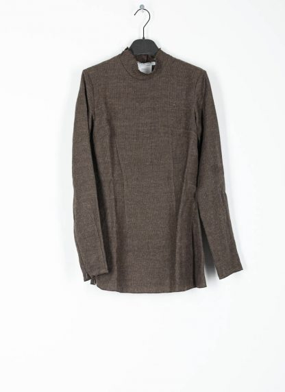 CHEREVICHKIOTVICHKI women tshirt witz zips damen top 92AW19 linen wool mud stripe hide m 2