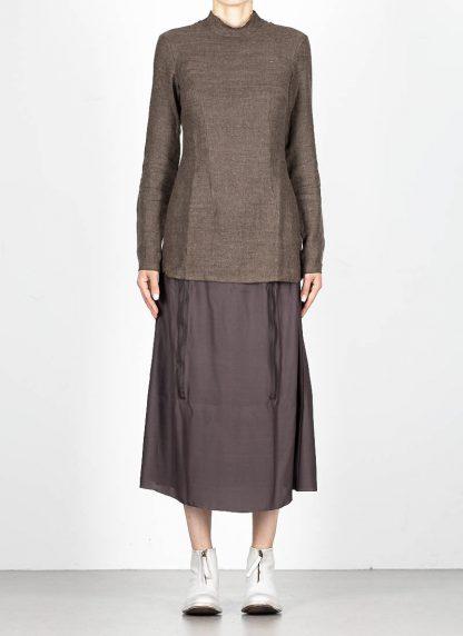 CHEREVICHKIOTVICHKI women tshirt witz zips damen top 92AW19 linen wool mud stripe hide m 3