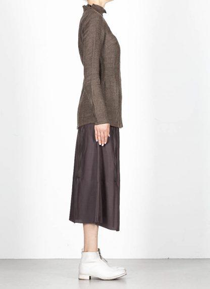 CHEREVICHKIOTVICHKI women tshirt witz zips damen top 92AW19 linen wool mud stripe hide m 4
