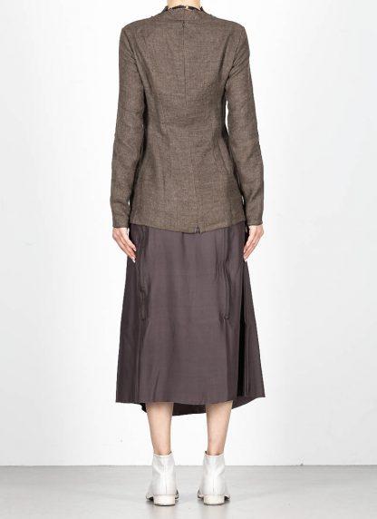 CHEREVICHKIOTVICHKI women tshirt witz zips damen top 92AW19 linen wool mud stripe hide m 5