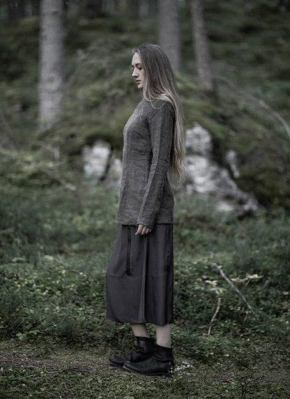 CHEREVICHKIOTVICHKI women tshirt witz zips damen top 92AW19 linen wool mud stripe hide m 6
