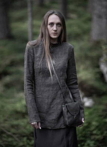 CHEREVICHKIOTVICHKI women tshirt witz zips damen top 92AW19 linen wool mud stripe hide m 7