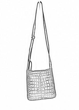 GUIDI Cross Body Bag Shoulder Tasche W4 crocodile full grain leather dark red burgundy CV23T hide m 1