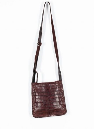 GUIDI Cross Body Bag Shoulder Tasche W4 crocodile full grain leather dark red burgundy CV23T hide m 2
