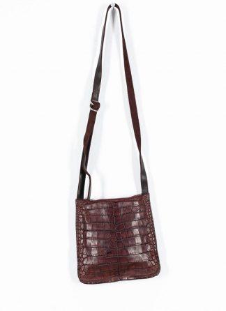 GUIDI Cross Body Bag Shoulder Tasche W4 crocodile full grain leather dark red burgundy CV23T hide m 2